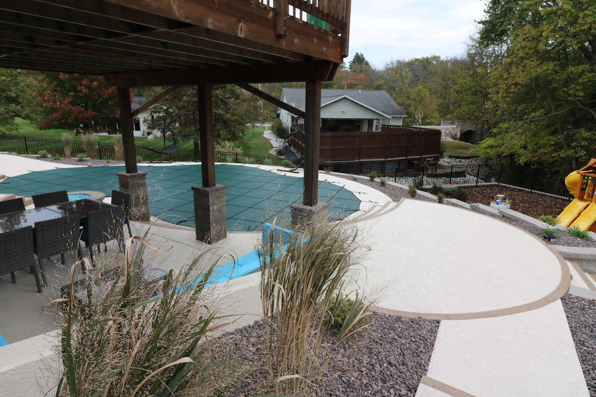 Pool Deck Resurfacing with Knockdown Texture Application