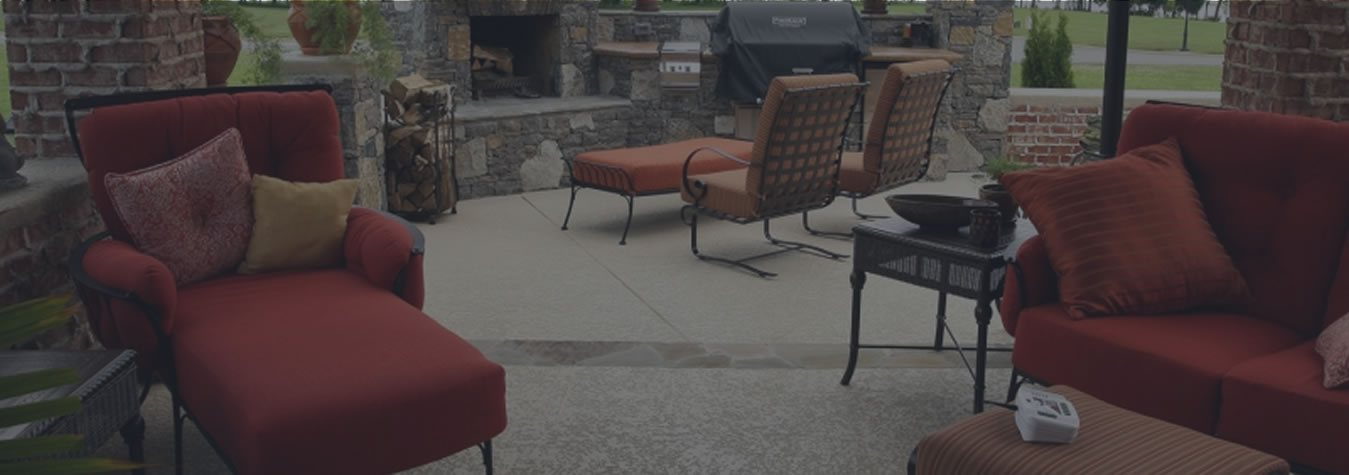 Patio with Knockdown Texture