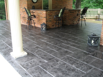 stamped concrete patio san jose