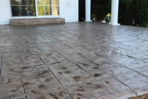 stamped concrete overlay patio san jose