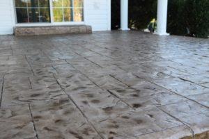 stamped concrete overlay patio san jose