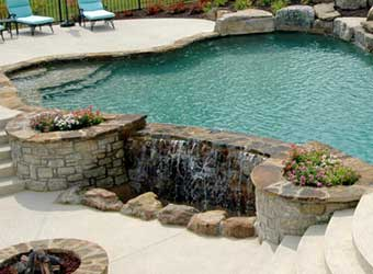 decorative concrete pool deck