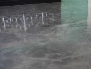 metallic epoxy concrete floor